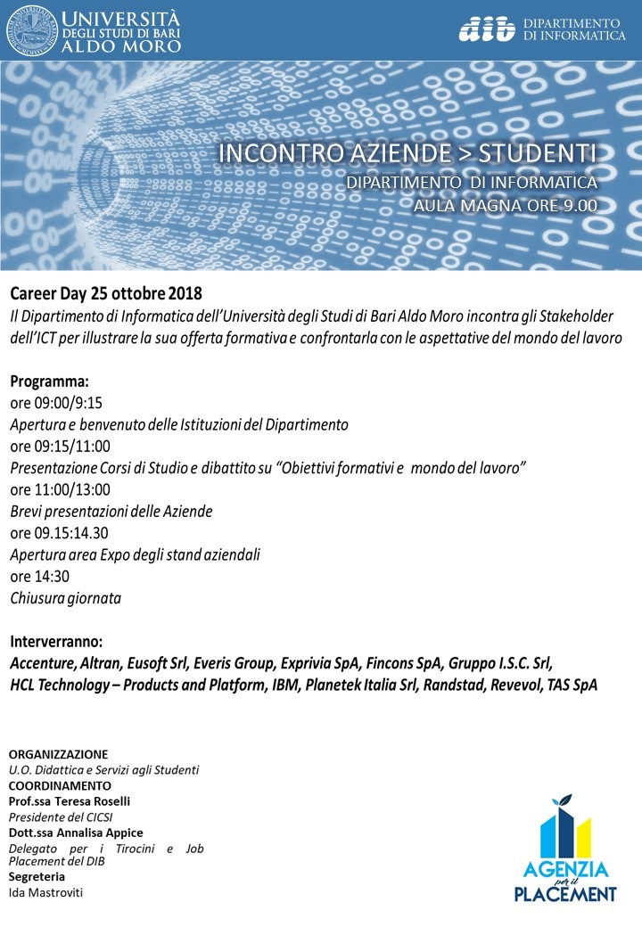 Career day Dipartimento Informatica